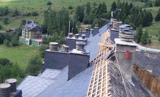 Montaje de cubiertas e impermeabilizaci n proyectos - Tela asfaltica pizarra ...